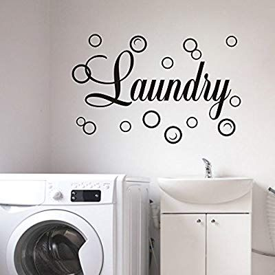 Amazon Com Moharwall Laundry Room Decal Quote Bubble Stciker