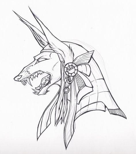 Egypt Anubis Drawing Color Girl Warrior Egyptian — Ardesengsk
