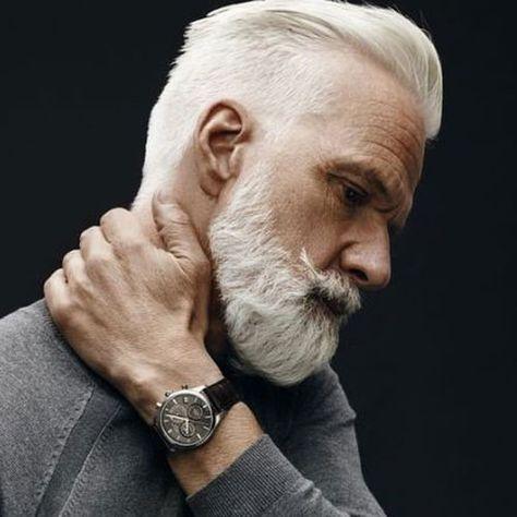 Trendy Männer Frisuren Weiße Haare