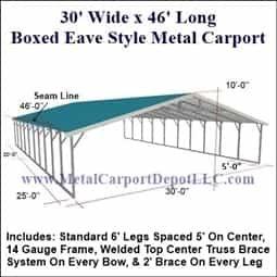 Triple Wide 30 X46 Regular Style Metal Carport For Just 5 740 00