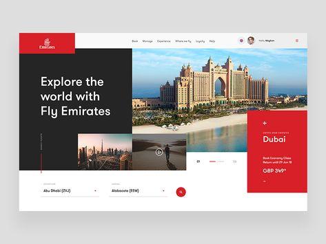 Emirates Airline - Website Concept