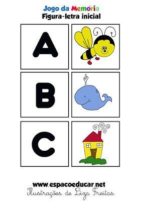 Jogo Educativo Atividade Para A Alfabetizacao Memoria Figura