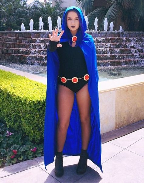 Insanely Creative Cosplays to Inspire You This Raven costume is seriously one of our all time favorites. Teen Titans go!This Raven costume is seriously one of our all time favorites. Teen Titans go!