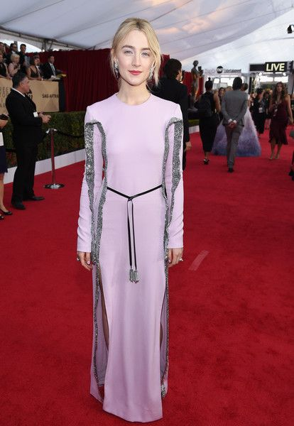 Actor Saoirse Ronan attends the 24th Annual Screen Actors Guild Awards.