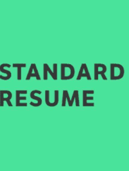 Standard Resume Pro Modern \ professional resumes without - standard resume