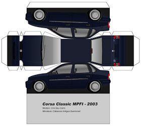 Sp Papel Modelismo Papercraft Corsa Classic Mpfi 2003 Carro