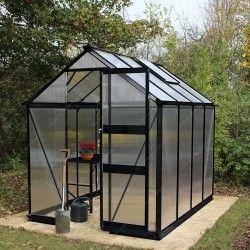 Serre De Jardin 4 97m En Verre Trempe Burford Noire Eden Greenhouses Maison Verte Serre Jardin Abri De Jardin