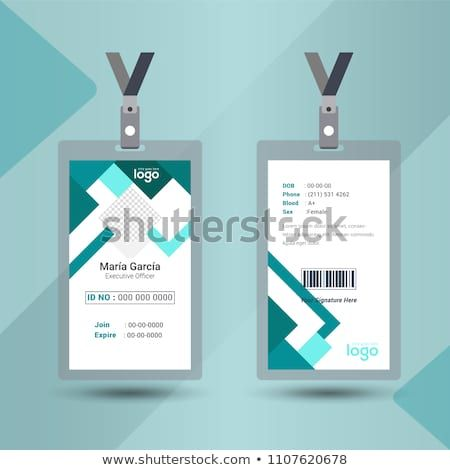 Event Staff Abstract Id Card Set With Lanyard Vector Design And Text Template Illustration Identification For Em Business Card Template Design Cards Card Set