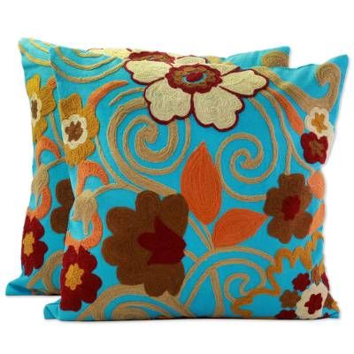 Pin By Kathleen Connor On Decorative Pillows In 2020 Throw Pillows Designer Throw Pillows Turquoise Cushions