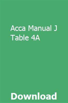 Array - acca manual j table 4a   protingisla   gasoline engine      rh   pinterest com