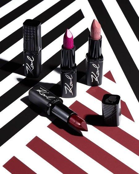 C Est La Beaute De La Collection De Maquillage Karl Lagerfeld X L Oreal Paris Qui Peut Deja E Coleccion De Maquillaje Barra De Labios Maquillaje