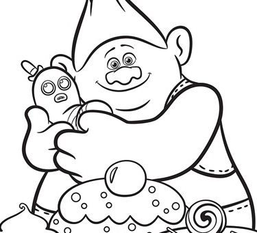 Trolls Biggie And Mr Dinkles Cartoon Coloring Pages Coloring Pages Free Printable Coloring Pages
