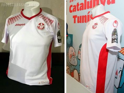 2b9b41edc Tunisia 2017 Africa Cup of Nations uhlsport Football Kit, Soccer Jersey,  Shirt, Maillot Tunisie CAN AFCON