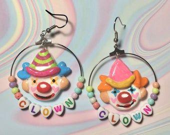 Cute Jewelry, Jewlery, Tyler The Creator Wallpaper, Kandi Bracelets, Vintage Cupcake, Earring Cards, Ceramic Clay, Clowns, Clay Art