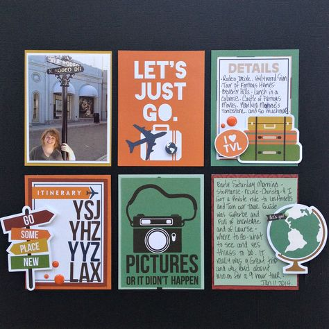 #papercraft #scrapbook #layout. Let's Just Go - Scrapbook.com - Made with Simple Stories SN@P Travel line.