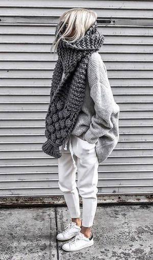 Casual Comfy Knitted Fall Outfit Two Piece