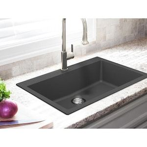 Franke Primo 33 In X 22 In Graphite Single Bowl Drop In Or Undermount 4 Hole Commercial Residential Kitchen Sink A In 2020 Black Kitchen Sink Sink Modern Kitchen Sinks