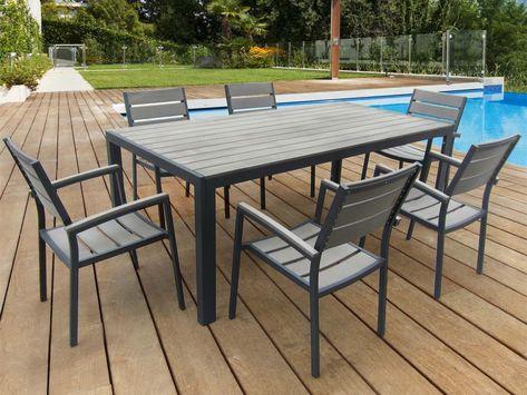 redoutable salon de jardin bois gris   Outdoor furniture ...