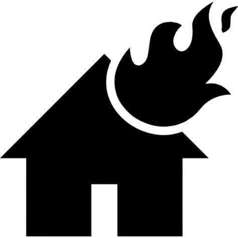 燃えている家での炎 無料アイコン Home Logo Vector Free Burning