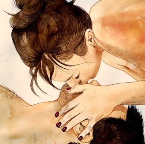 10+ Sensual Illustrations That Explore The Mesmerizing World Of Couple Intimacy