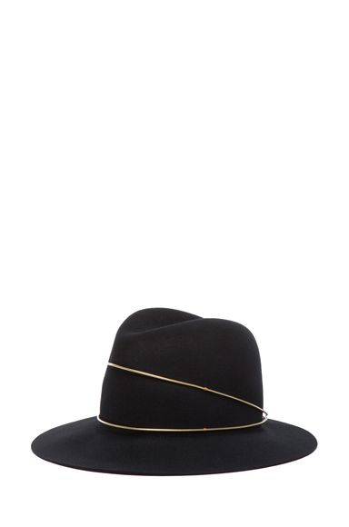 Janessa Leone|Exclusive George Hat in Black