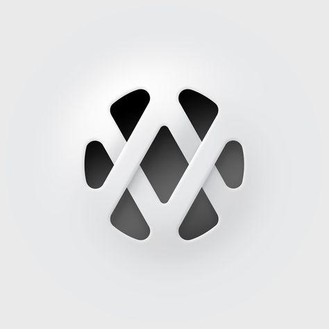 AV logo by Akos Venesz, via Behance  Es interesante el modo por el cual se llega a la construccion del logo. La sumatoria de las letras A y V y la aplicacion de circulos para redondear y dar mas calidez a las formas y luego se aplica una tecnica para resaltar y realizar una tridimencion.  Interesante.