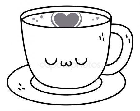 Kawaii Of Coffee Cup Cartoon Design Stock Vector Affiliate Cup Coffee Kawaii Cartoon Ad Cartoon Design Coffee Vector Coffee Clipart