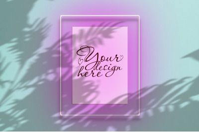 Download Mockup Poster In A Neon Frame With A Pink Glow Psd Mockup Template Design Mockup Free Free Packaging Mockup Poster Mockup Psd