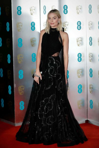 Margot Robbie attends the EE British Academy Film Awards (BAFTA) gala dinner held at Grosvenor House.