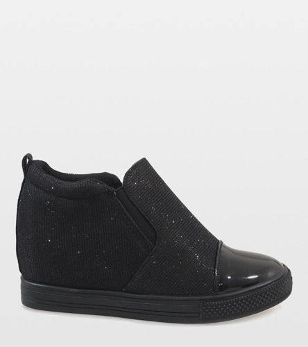 Czarne Sneakersy Koturny Trampki Botki Dd410 1 39 7820953407 Oficjalne Archiwum Allegro Shoes Slip On Sneaker Sneakers