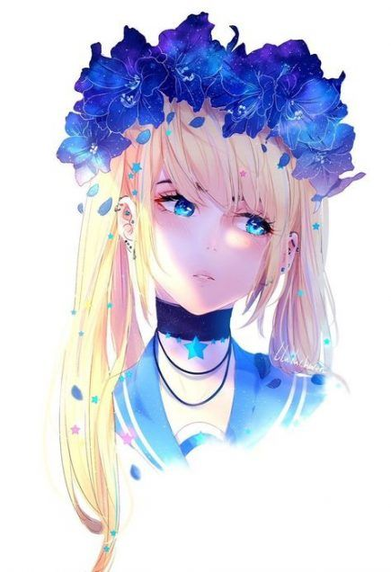 62 Trendy Flowers Girl Illustration Anime Art Flowers Anime Art