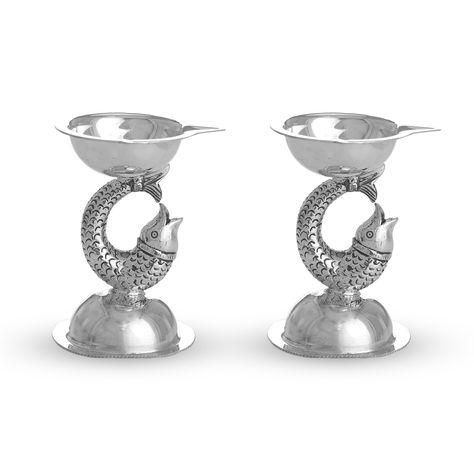 Orca Silver lamp - Silver Articles