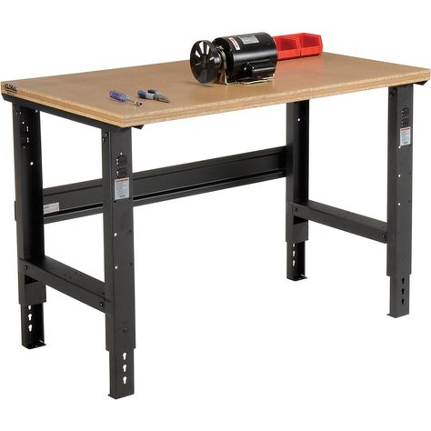 Open Leg Work Bench Adjustable Height 48 W X 30 D Shop Top