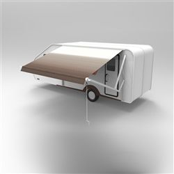 Motorized Retractable Rv Awning 10 X 8 Feet Brown Fade Aleko In 2020 Patio Canopy Patio Awning Canopy
