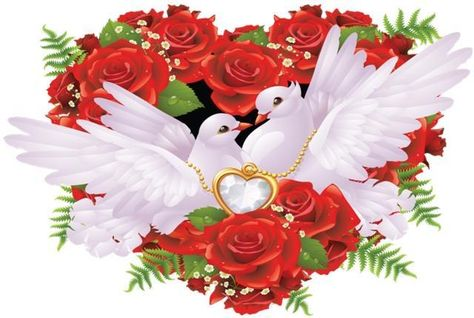 Wedding Doves Free Cross Stitch Pattern