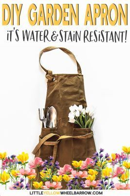 How I Made The Best Garden Apron Ever With Beeswax Gardening