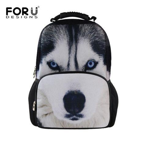 6307de3cae78 FORUDESIGNS Cool Animal Owl Wolf Backpacks Children 3D Printing School  Backpack for Teenagers Boys Men s Travel Bag Kids Mochila