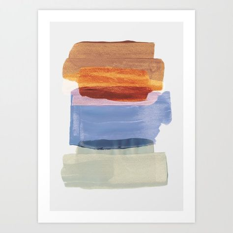 Abstract Brush Strokes 49 Art Print