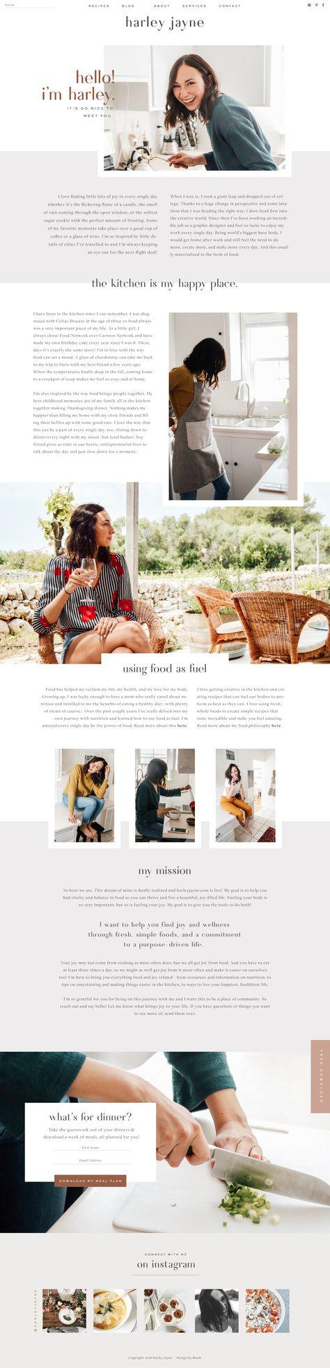 Website Reveal : Harley Jayne | Food Blog Design - MARA