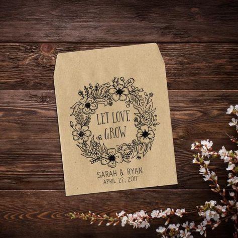 Seed Packet Favors, Rustic Wedding Favor, Paper #letlovegrow #seedpacketfavors #bohowedding #weddingseedpackets #personalizedfavors #barnwedding #seedpackets #seedfavor #weddingfavors #seedpacketfavor #rusticweddingfavor #customseedpackets #flowerseedpackets