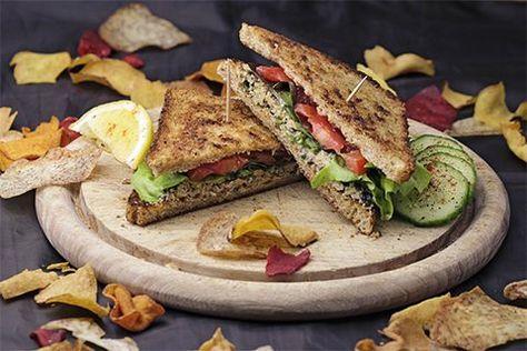 Veganes Thunfisch-Sandwich