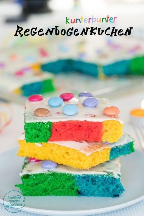 Regenbogenkuchen Vom Blech Rezept Kindergeburtstag Kuchen Backen Papagei Kuchen Und Bunter Kuchen