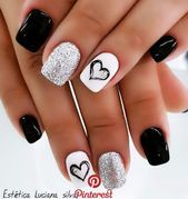 30 Extraordinary Black White Nail Designs Ideas Just For You #nails #naildesigns #nailart