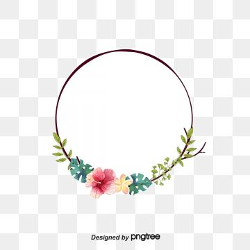 Fresh Flower Frame Round Flower Vector Frame Vector Round Vector Png Transparent Clipart Image And Psd File For Free Download Flower Frame Watercolor Flower Background Fresh Flowers