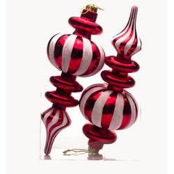 Willa Arlo Interiors Finial Assorted Christmas Ornament Reviews Wayfair Red Christmas Ornaments Christmas Ornaments Candy Ornaments