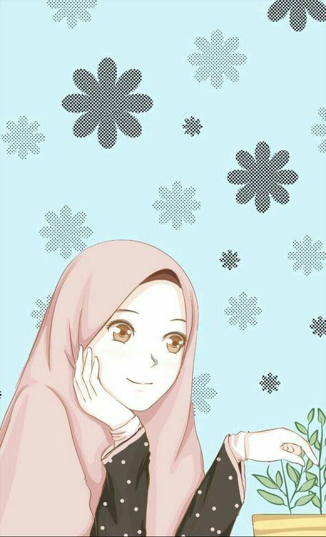 52 Ideas Wall Paper Cartoon Couple Illustrations Anime Muslim Islamic Cartoon Anime Muslimah