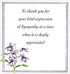 Bereavement Thank You Notes Lovely Wording Examples Funeral