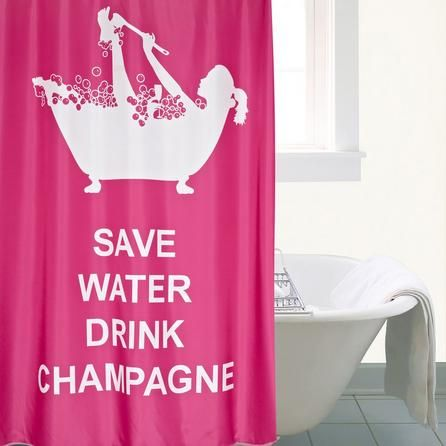 Drink Champagne Xl Shower Curtain Curtains Pink Shower Curtains