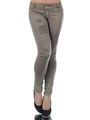 Damen High Waist Jeans Skinny Jeans Jeggings Stretch Hüfthosen Röhrenjeans Neu