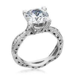 Platinum & Diamond Twist Setting by Tacori (Available at Michael C. Fina)